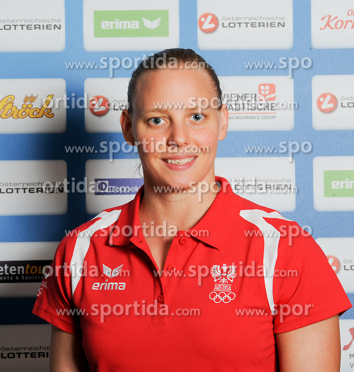 17.07.2016, Hotel Mariott, Wien, AUT, Olympia, Rio 2016, Einkleidung OeOC, im Bild Koschischek Birgit ( Schwimmen) // during the outfitting of the Austrian National Olympic Committee for Rio 2016 at the Hotel Mariott in Wien, Austria on 2016/07/17. EXPA Pictures © 2016, PhotoCredit: EXPA/ Erich Spiess