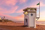 Winter Sunsets on the Boardwalk at Main Beach Laguna