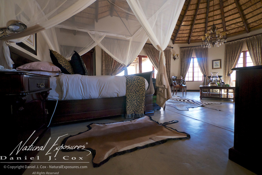 Interior details of our room at King's Camp, South Africa.