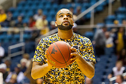Nov 13, 2015; Morgantown, WV, USA; West Virginia Mountaineers guard Jaysean Paige (5) warms up before their game against the Northern Kentucky Norse at WVU Coliseum. Mandatory Credit: Ben Queen-USA TODAY Sports