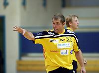 Håndball, 11. desember 2002. Eliteserien, Gildeserien herrer, Kragerø - Stord 25-32. Jon Petter Sando, Kragerø