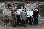 Wiezowski/Ledochowicz family. All Saints Day dinner. Zadzim, Poland.