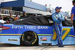 August 10, 2018 - Brooklyn, Michigan, United States of America - Ricky Stenhouse, Jr (17) hangs out on pit road prior to qualifying for the Consumers Energy 400 at Michigan International Speedway in Brooklyn, Michigan. (Credit Image: © Justin R. Noe Asp Inc/ASP via ZUMA Wire)