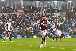 Burnley's Danny Ings celebrates after scoring Burnley's second goal- Photo mandatory by-line: Matt McNulty/JMP - Mobile: 07966 386802 - 08/02/2015 - SPORT - Football - Burnley - Turf Moor - Burnley v West Brom - Barclays Premier League