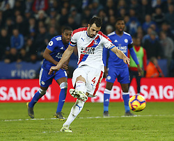 February 23, 2019 - Leicester, England, United Kingdom - Crystal Palace's Luka Milivojevic scores from the Penalty spot.during English Premier League between Leicester City and Crystal Palace at King Power stadium , Leicester, England on 23 Feb 2019. (Credit Image: © Action Foto Sport/NurPhoto via ZUMA Press)