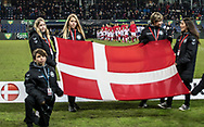 FOOTBALL: The danish team walks on to the pitch before the friendly match between Denmark and Panama at Brøndby Stadium on March 22, 2018 in Brøndby, Copenhagen, Denmark. Photo by: Claus Birch / ClausBirch.dk.