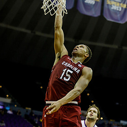 Feb 1, 2017; Baton Rouge, LA, USA; South Carolina Gamecocks guard PJ Dozier (15) shoots against the LSU Tigers during the second half of a game at the Pete Maravich Assembly Center. South Carolina defeated LSU 88-63. Mandatory Credit: Derick E. Hingle-USA TODAY Sports