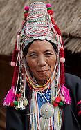 Aka Women in the near of Chiang Rai, Northern Thailand.