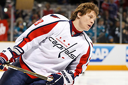 February 17, 2011; San Jose, CA, USA;  Washington Capitals left wing Alexander Semin (28) warms up before the game against the San Jose Sharks at HP Pavilion.  San Jose defeated Washington 3-2. Mandatory Credit: Jason O. Watson / US PRESSWIRE