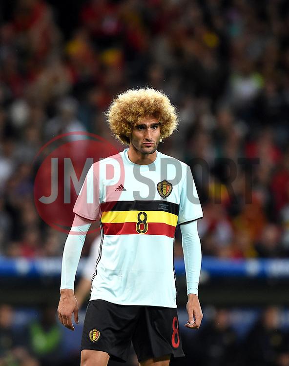 Marouane Fellaini of Belgium  - Mandatory by-line: Joe Meredith/JMP - 01/07/2016 - FOOTBALL - Stade Pierre Mauroy - Lille, France - Wales v Belgium - UEFA European Championship quarter final