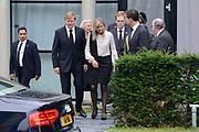 Besloten bijeenkomst voor nabestaanden van de slachtoffer van de vliegramp met de MH17 in het NBC Congrescentrum in Nieuwegein <br /> <br /> Closed meeting for the families of the victims of the plane crash with the MH17 , in NBC congresscentre in Nieuwegein <br /> <br /> Op de foto / On the photo:  Koning Willem-Alexander ,  Koningin Maxima en premier Mark Rutte / King Willem-Alexander, Queen Maxima and Prime Minister Mark Rutte