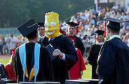 JACKSON NJ - Timothy Martin Doherty,  as Bart Simpson, receives his diploma during the Jackson Memorial High School Commencement Ceremonies.  (Photo by Miguel Juarez Lugo)