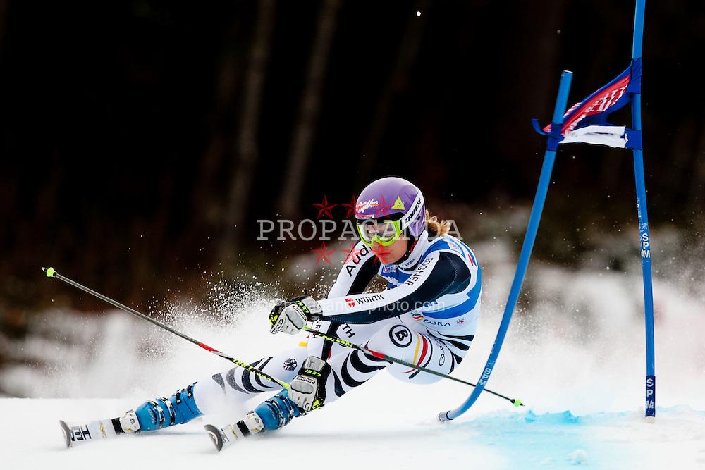 21.01.2012, Podkorn, Kranjska Gora, SLO, FIS Weltcup Ski Alpin, Kranjska Gora, Damen, Riesentorlauf, 1. Durchgang, im Bild Maria Hoefl - Riesch of Germany during 1st Run of 48th Golden Fox Audi Alpine FIS Ski World Cup Ladies Giant Slalom, on January 21, 2012 in Podkorn, Kranjska Gora, Slovenia. EXPA Pictures © 2012, PhotoCredit: EXPA/ Sportida/ Matic Klansek Velej..***** ATTENTION - OUT OF SLO *****