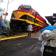 Views of the Panama Canal Railroad that travels from Panama City to Colon City and back, moving cargo as well as passangers twice a day.