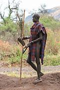 Portrait Of A Mursi Man, Mursi Tribal Village, The Omo Valley, Ethiopia
