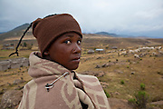 10 May 2011, Ha Tsekana Village, Semonkong Community Council, Lesotho. Moshoeshoe Matse (15) is a shepherd and has never attended school.
