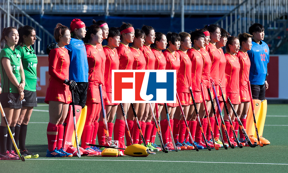 AUCKLAND - Sentinel Hockey World League final women<br /> Match id 10297<br /> 07 Germany v China<br /> Foto: Line up China.<br /> WORLDSPORTPICS COPYRIGHT FRANK UIJLENBROEK