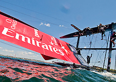 Newport-Emirates Team New Zealand capsizes