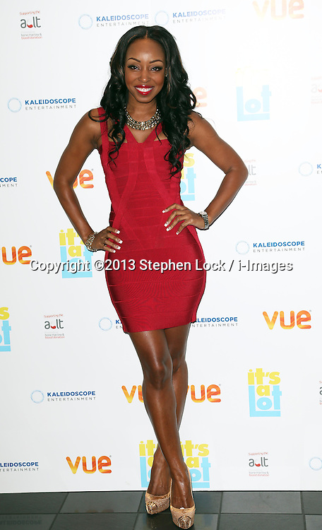 Sabrina Washington arriving at the premiere of It's A Lot , in London,Monday, 21st October 2013. Picture by Stephen Lock / i-Images