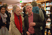 MICHAEL HOROVITZ; CHARLES BOYLE, Alba Arikha  book launch for 'Soon' , Daunt's Holland Park.. London. 17 September 2013.
