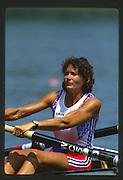 Banyoles, SPAIN, GBR W8+, Kate GROSE, competing in the 1992 Olympic Regatta, Lake Banyoles, Barcelona, SPAIN. 92 Gold Medalist.   [Mandatory Credit: Peter Spurrier: Intersport Images]