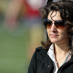 August 9, 2011; Metairie, LA, USA; New Orleans Saints owner Rita Benson-LaBlanc during training camp practice at the New Orleans Saints practice facility. Mandatory Credit: Derick E. Hingle