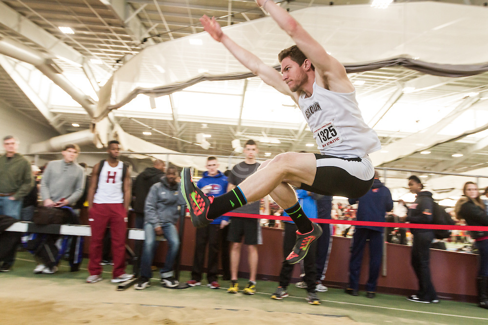 Boston University John Terrier Classic Indoor Track & Field: mens long jump, Jones, Brown