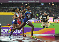 Athletics - 2017 IAAF London World Athletics Championships - Day Six<br /> <br /> Women's 400m  Final<br /> <br /> Phyllis Francis of USA wins the Gold medal ahead of Allyson Felix  at the London Stadium.<br /> <br /> COLORSPORT/ANDREW COWIE