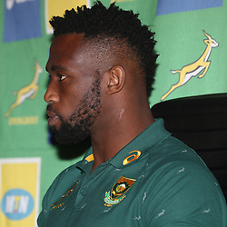 Siya Kolisi (captain) of South Africa during the South African - Springbok Captain's media briefing, Tsogo Sun Montecasino Hotel <br /> Johannesburg .South Africa. 08,06,2018 Photo by (Steve Haag Sports)