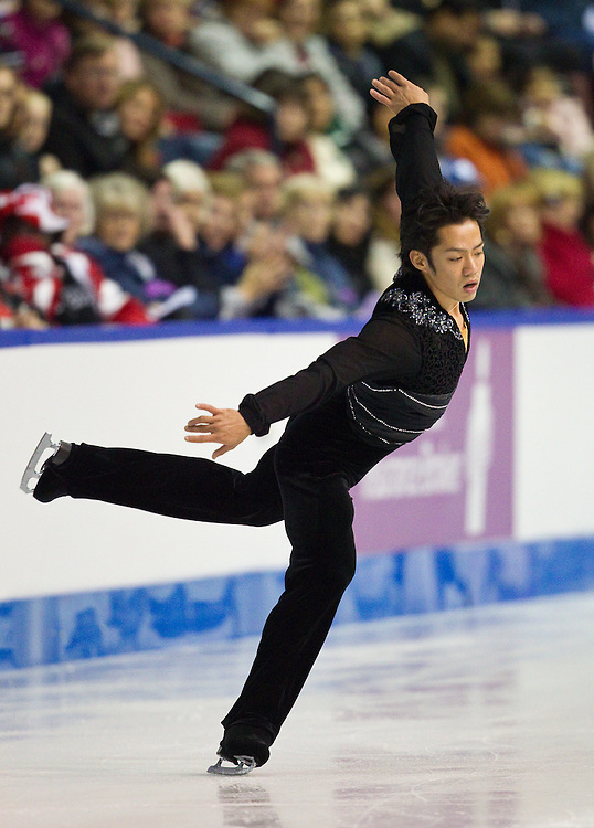 GJR354 -20111028- Mississauga, Ontario,Canada-  Daisuke Takahashi of Japan skates his short program at Skate Canada International, October 28, 2011.<br /> AFP PHOTO/Geoff Robins