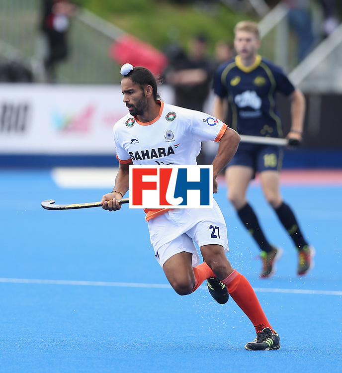 LONDON, ENGLAND - JUNE 16:  Akashdeep Singh of India during the FIH Mens Hero Hockey Champions Trophy match between Australia and India at Queen Elizabeth Olympic Park on June 16, 2016 in London, England.  (Photo by Alex Morton/Getty Images)