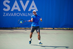 Aslan Karatsev (RUS) play against Enzo Couacaud (FRA) at ATP Challenger Zavarovalnica Sava Slovenia Open 2018, on August 6, 2018 in Sports centre, Portoroz/Portorose, Slovenia. Photo by Urban Urbanc / Sportida