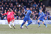 AFC Wimbledon during the Sky Bet League 2 match between AFC Wimbledon and Accrington Stanley at the Cherry Red Records Stadium, Kingston, England on 5 March 2016. Photo by Stuart Butcher.