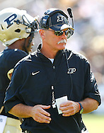 WEST LAFAYETTE, IN - SEPTEMBER 15:  Head coach Danny Hope of the Purdue Boilermakers seen on the sidelines during action against the Eastern Michigan Eagles at Ross-Ade Stadium on September 15, 2012 in West Lafayette, Indiana. (Photo by Michael Hickey/Getty Images)***Local Caption***Danny Hope
