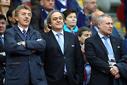27.05.2015, Nationalstadion, Warschau, POL, UEFA EL, Dnjepr Dnjepropetrovsk vs FC Sevilla, Finale, im Bild PREZES PZPN ZBIGNIEW BONIEK PREZES UEFA MICHEL PLATINI HRYHORIJ SURKIS // during the UEFA Europa League final match between Dnjepr Dnjepropetrovsk and FC Sevilla Nationalstadion in Warschau, Poland on 2015/05/27. EXPA Pictures &copy; 2015, PhotoCredit: EXPA/ Newspix/ MICHAL NOWAK<br /> <br /> *****ATTENTION - for AUT, SLO, CRO, SRB, BIH, MAZ, TUR, SUI, SWE only*****