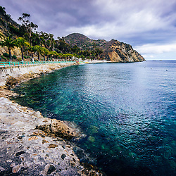 Descanso Bay Catalina Island picture. Descanso Bay is a popular area of Catalina Island off the coast of Southern California in the United States.