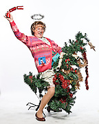 Photographs by Alan Peebles<br /> Mrs Brown's Boys<br /> <br /> Mrs Brown posing for the Xmas pic with tree and bafta