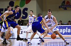 Domen Zerak (13) at NLB League ABA basketball match between KK Helios Domzale and KK Zagreb Croatia Osiguranje, on October 31, 2008, in Domzale, Slovenia.  (Photo by Vid Ponikvar / Sportida)