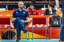 15-10-2018 JPN: World Championship Volleyball Women day 16, Nagoya<br /> Netherlands - USA 3-2 / Coach Jamie Morrison of Netherlands