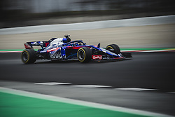 March 1, 2018 - Barcelona, Catalonia, Spain - PIERRE GASLY (FRA) drives in his Toro Rosso STR13 during day four of Formula One testing at Circuit de Catalunya (Credit Image: © Matthias Oesterle via ZUMA Wire)