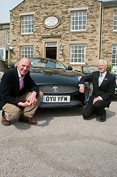 Hatfields Jaguar Ride and Drive event at the Cavendish Hotel Baslow Derbyshire Andrew Jeffery and Former Blue Peter presenter Simon Groom..5th May 2011.Images © Paul David Drabble