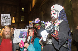 Hundreds of protesters march through Edinburgh to campaign against incoming US president Donald Trump, coinciding with his inauguration in Washington.
