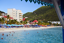 Philipsburg, St. Maarten: The beach at the cruise docks. One of the most sophisticated and developed cruise ports in the Caribbean, Philipsburg is known for its multiple high-end jewelry stores and beautiful beach.