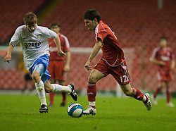 LIVERPOOL, ENGLAND - Wednesday, May 7, 2008: Liverpool's Daniel Pacheco in action against Aston Villa during the play-off final of the FA Premier League Reserve League at Anfield. (Photo by David Tickle/Propaganda)