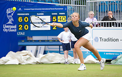LIVERPOOL, ENGLAND - Thursday, June 20, 2013: Anett Kontaveit during Day One at the Liverpool Hope University International Tennis Tournament at Calderstones Park. (Pic by David Rawcliffe/Propaganda)
