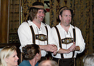 """Jerry Francis of Dayton (left) and Mike Webb of Canal Winchester during Mayhem & Mystery's production of """"Festival Fracas"""" at the Spaghetti Warehouse in downtown Dayton, Monday, September 27, 2010."""