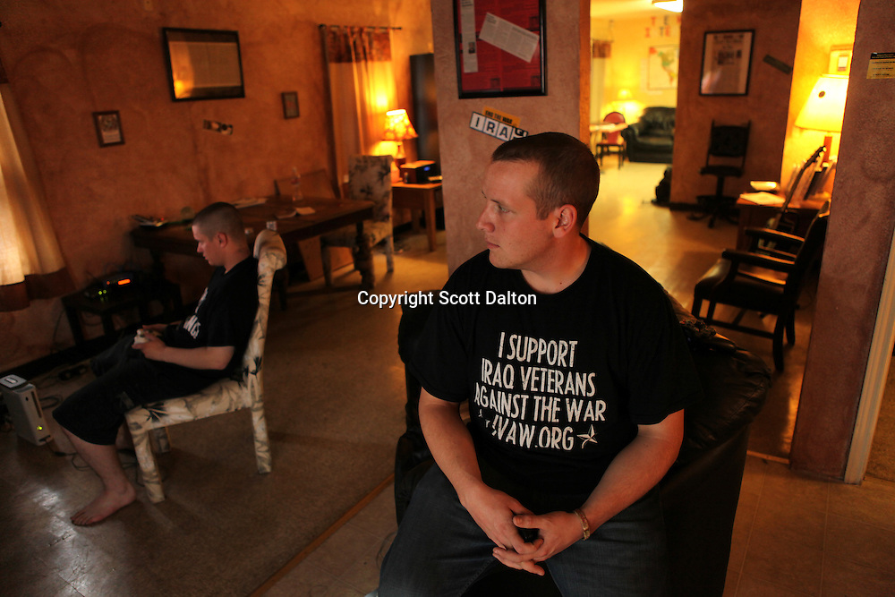 Michael Kern, a 22-year-old private first class sits inside Under The Hood, a gathering spot for soldiers that are coping with their military experiences, in Killeen, Texas on Sunday, November 8, 2009. Kern tried unsuccessfully to obtain help for stress last year in Baghdad, and has since been diagnosed with Post Traumatic Stress Disorder, or PTSD. (Photo/Scott Dalton)