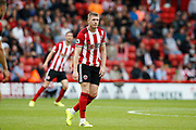 John Lundstram of Sheffield United during the Premier League match between Sheffield United and Crystal Palace at Bramall Lane, Sheffield, England on 18 August 2019.