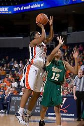 Virginia Cavaliers Guard Paulisha Kellum (3) shoots over South Florida Bulls forward ChiChi Okpaleke (12).  The Virginia Cavaliers defeated the South Florida Bulls 73-71 in the third round of the Women's NIT held at John Paul Jones Arena in Charlottesville, VA on March 22, 2007.