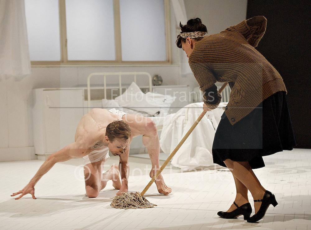 The Metamorphosis<br /> Choreography by Arthur Pita<br /> Royal Opera House, Linbury Studio Theatre, London, Great Britain <br /> 16th March 2013 <br /> <br /> Music Frank Moon<br /> Designs Simon Daw<br /> Lighting design Guy Hoare<br /> <br /> <br /> <br /> Gregor SamsaEdward Watson<br /> <br /> <br /> Grete Samsa<br /> Corey Annand<br /> <br /> <br /> Mrs Samsa<br /> Nina Goldman<br /> <br /> Mr Samsa<br /> Neil Reynolds<br /> <br /> Maid/Coffee LadyBettina Carpi<br /> <br /> ClerkGreig Cooke<br /> <br /> Train ConductorAmir Giles<br /> <br /> Dream Figure/Bearded<br /> ManBettina Carpi<br /> <br /> Dream Figure/Bearded ManAmir Giles<br /> <br /> Dream Figure/Bearded ManGreig Cooke<br /> <br /> <br /> Photograph by Elliott Franks